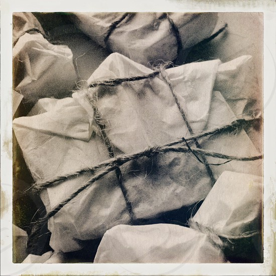 Brown paper packages tied up with string! photo