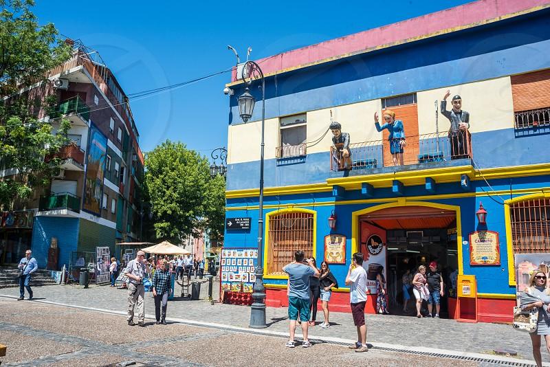 colorful Location shots of La boca Buenos Aires Argentina photo