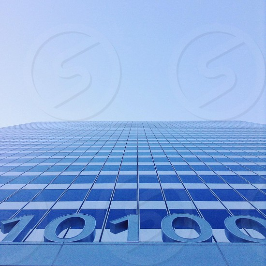 10100 blue glass window building photo