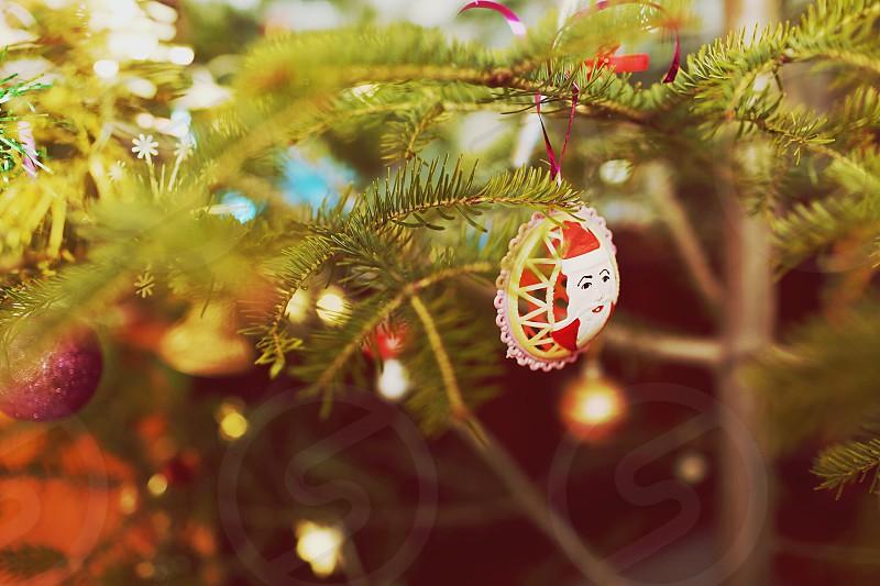 Christmas tree decorations holidays winter photo