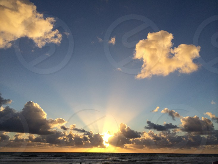Love is in the air  - clouds over Mission Beach San Diego photo