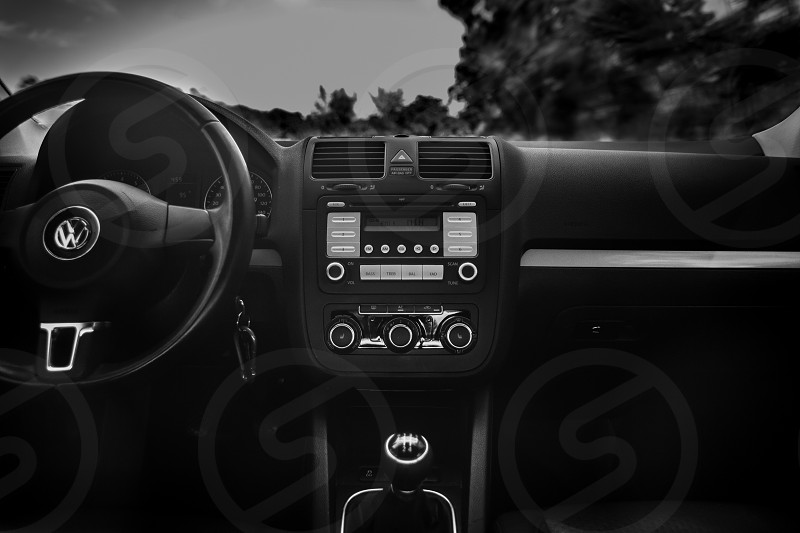 black volkswagen car interior photo