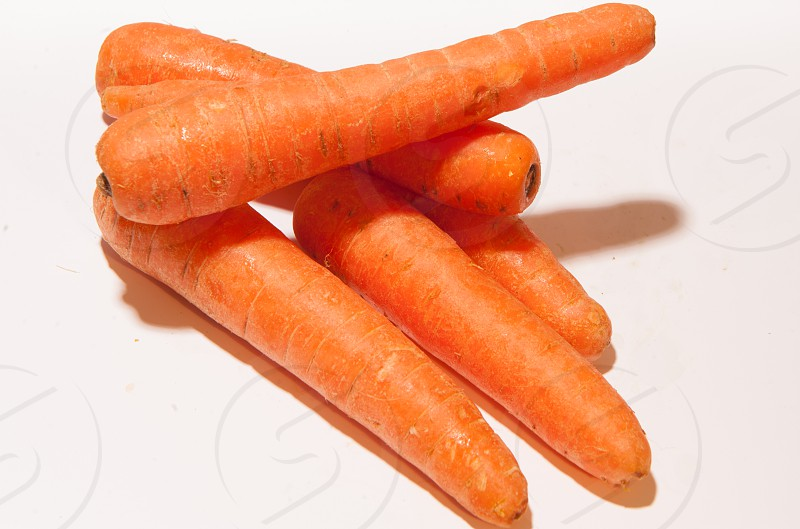 5 orange carrots photo