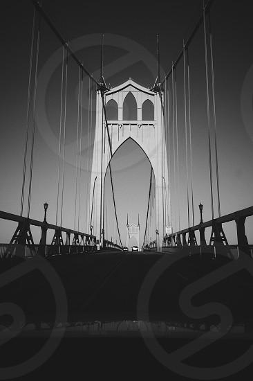 Taken on a drive across St. John's Bridge in Portland.  photo