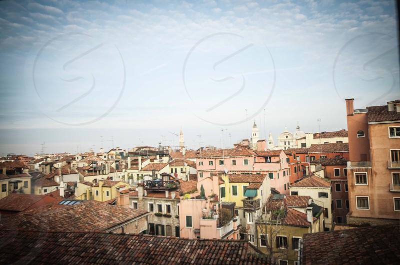Venice rooftops Italy photo