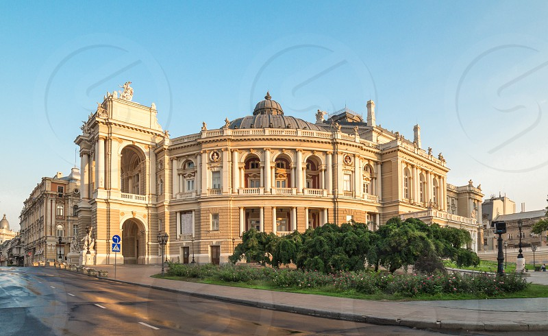 Odessa National Academic Theater of Opera and Ballet in Ukraine in a summer morning photo