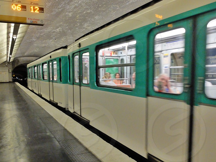 subway subway station train underground tunnel leaving train leaving subway photo