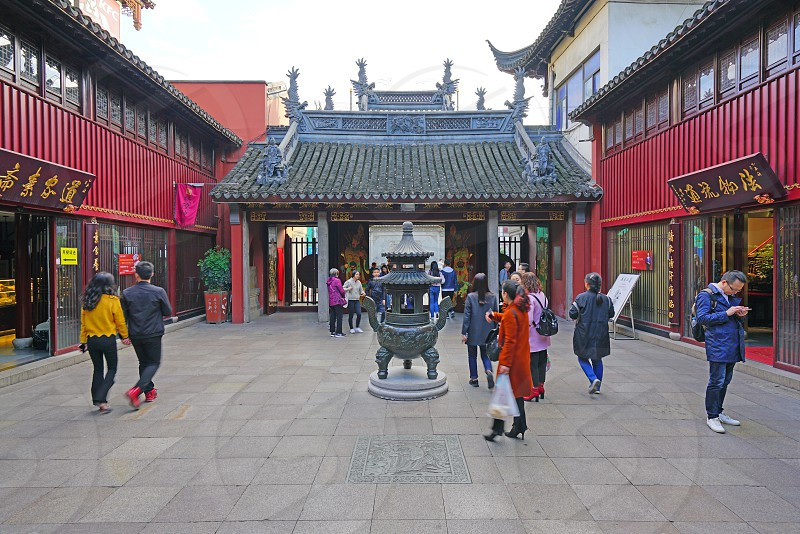 The City God Temple of Shanghai China photo