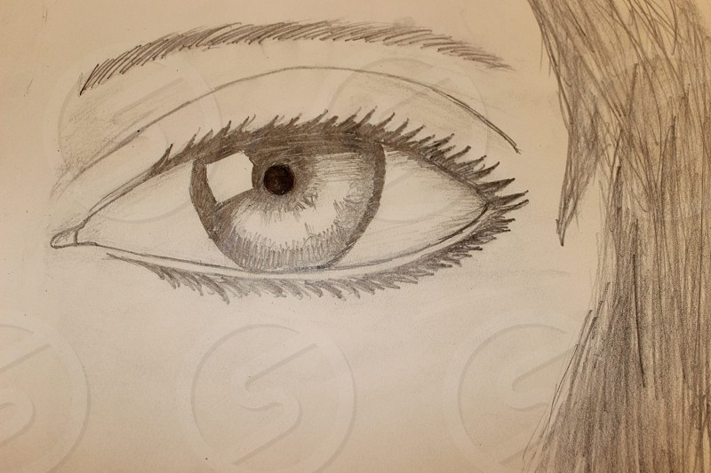 Realistic eye photo