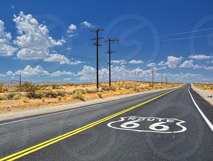 Road route 66 in California. photo