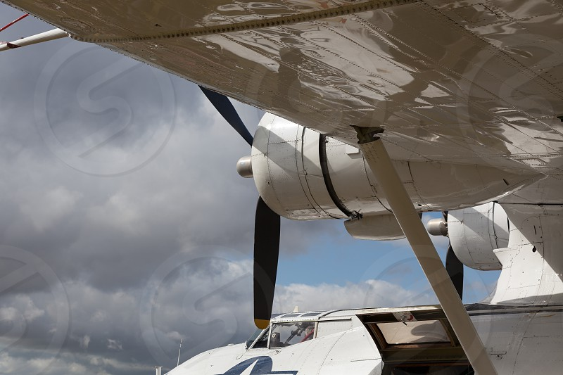 GOODWOOD WEST SUSSEX/UK - SEPTEMBER 14 : Close-up of a Catalina Flying Boat at Goodwood on September 14 2012 photo