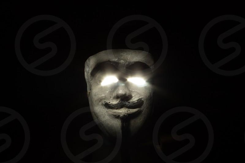 Mask and brightness  photo