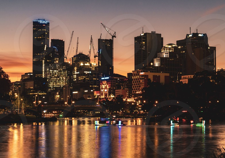Nightlife; event; water; yarra river; Festival of Lights photo