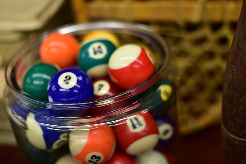 Collectible billiard Balls photo