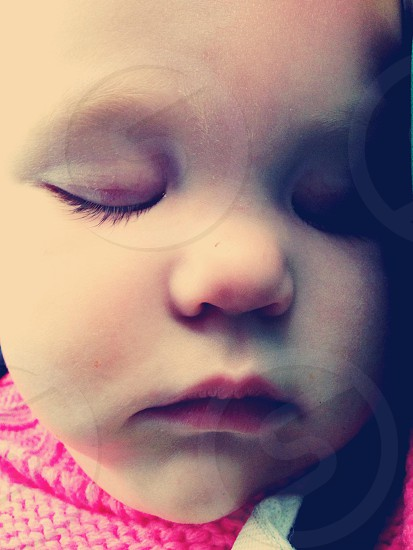 Sleeping baby girl photo