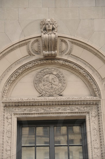 Architecture Details Building Facade Bust Archway Historic Downtown Pittsburgh photo