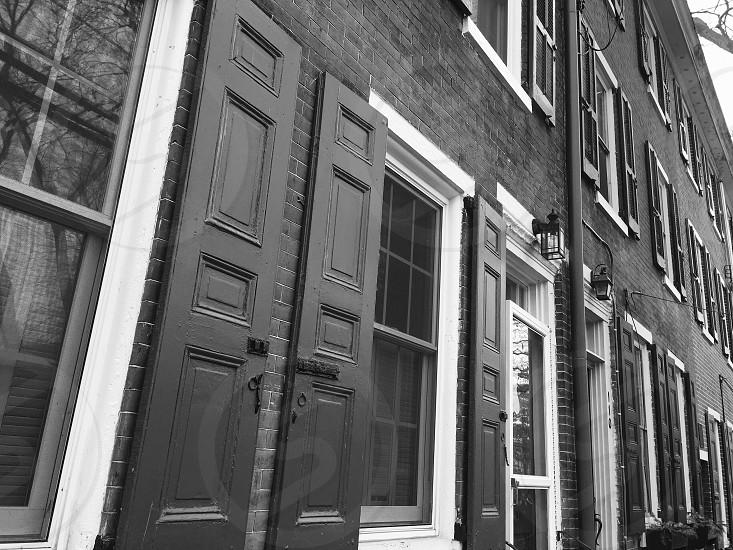 Windows; architecture; bw photo