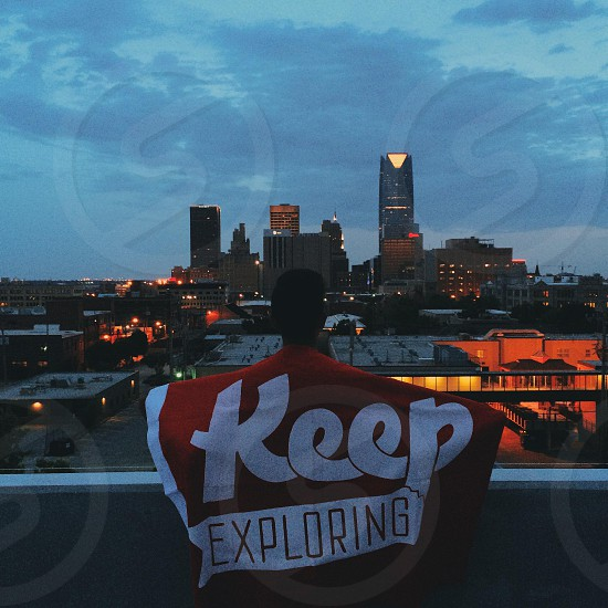 man with keep exploring banner photo