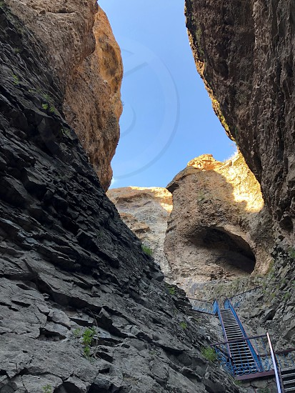 Rocks and caves. Nature at close range. The Mountains Of The Caucasus. From a series of extraordinary nature. photo