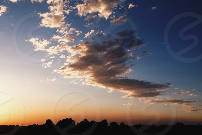 Sunset reflection.  photo