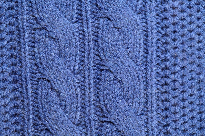 Unusual abstract blue knitted background and texture photo
