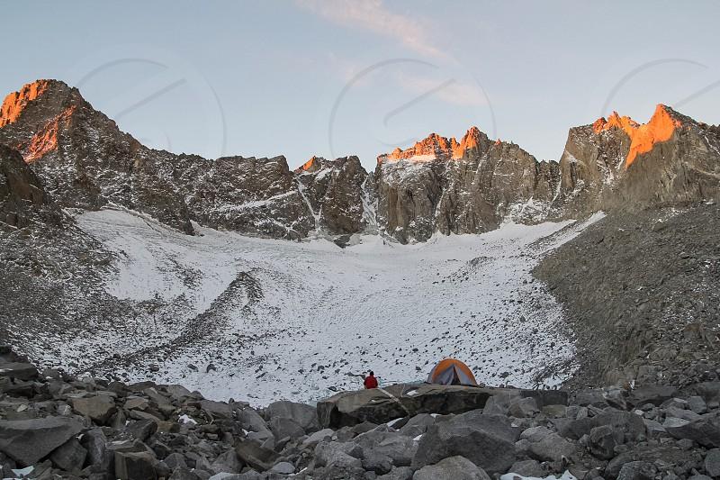 gray stone mountain photo