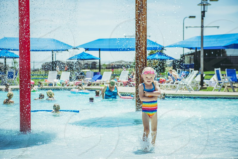 Miss Mina pool swim summer  photo