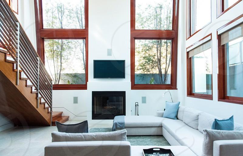 Large luxury room and windows photo