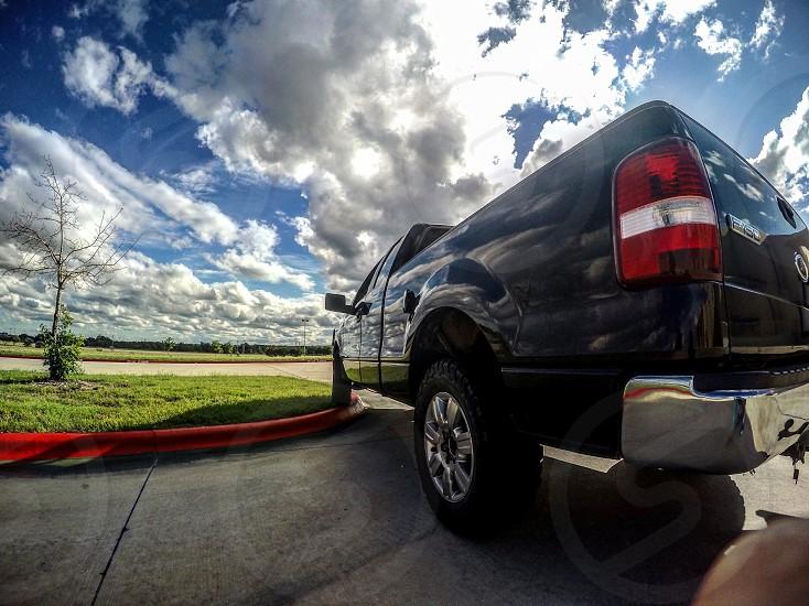 Truck Ford F150 Sky Clouds Sun Car Tire photo