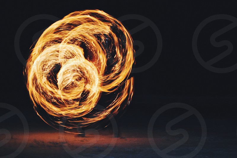 fire dancing long exposure photography photo