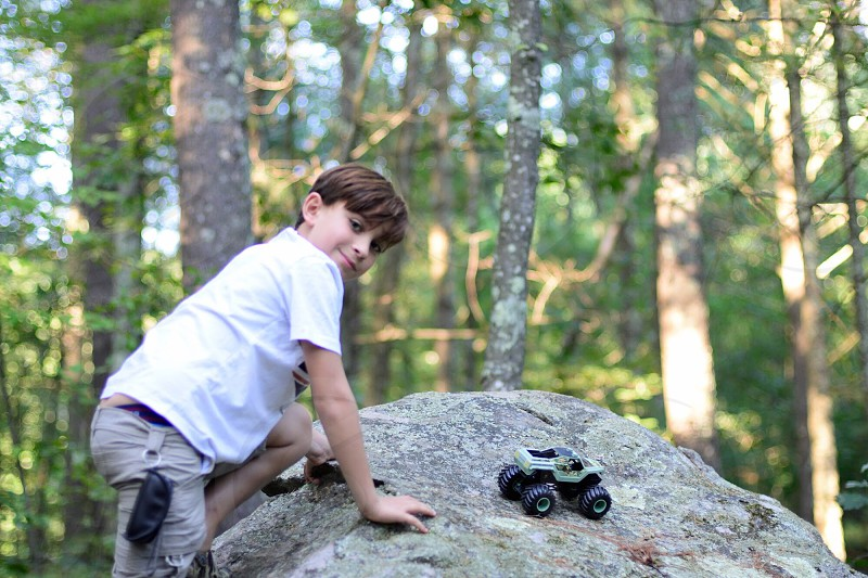 In the woods hiking outdoors activities lifestyle  photo