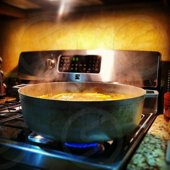 cooking soup range gas stove photo