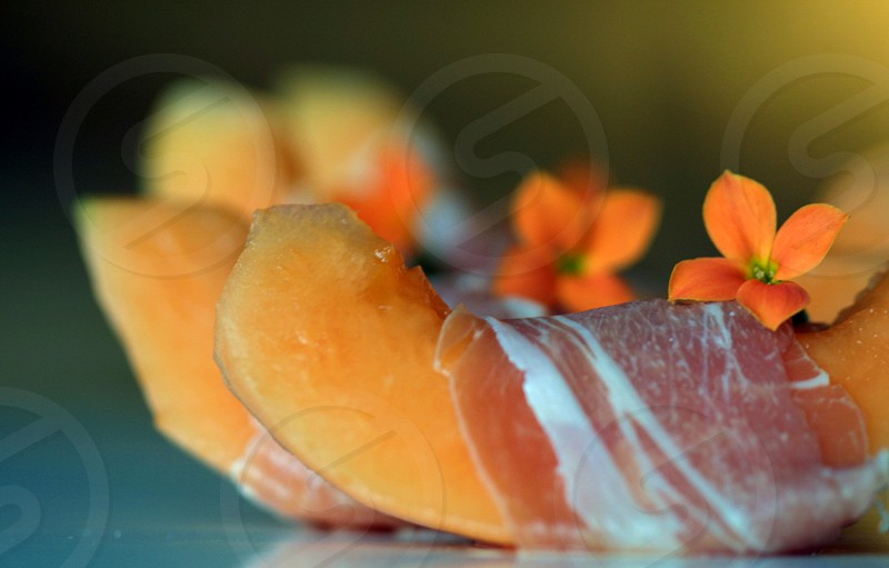Prosciutto e melone - served photo