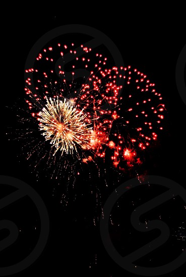 red and brown firework display photo
