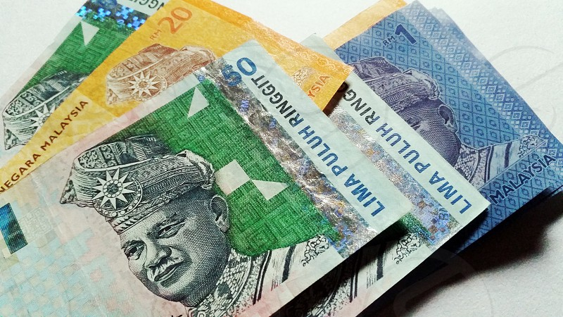 malaysian notes ...  photo