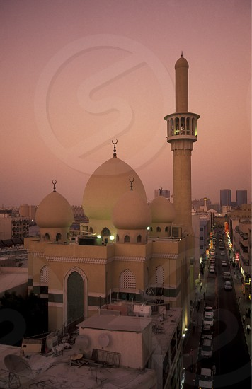 a mosque in the Moschee  an der Ali Ibn Talib road in the old town in the city of Dubai in the Arab Emirates in the Gulf of Arabia. photo
