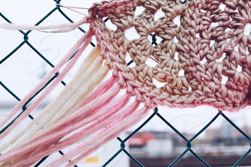 Bohemian style crocheting crocheted  yarn ornamental photo