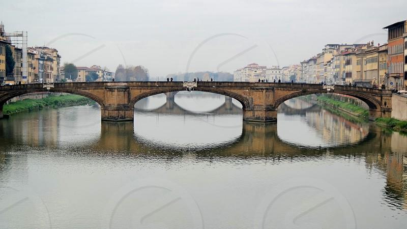 Italy florence vecchio bridge landscape nature  rome beautiful trip travel  photo