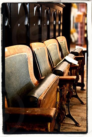 Antique theater seats.  photo