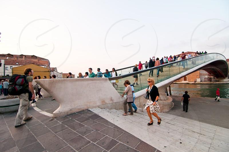 Venice Calatrava bridge della costituzione newest construction in town photo