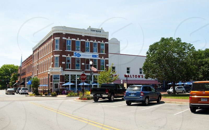 Downtown Bentonville with Walmart Museum and Walton's 5&10 photo