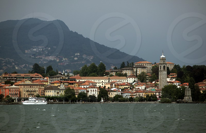 The old town of Pallanza near to Verbania on the Lago maggiore in the Lombardia  in north Italy.  photo