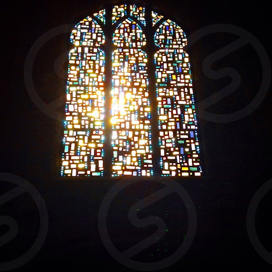 Church stained Glass colors sunlight photo