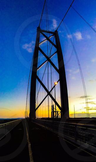 The Scottish Capitol... The forth road bridge.  photo