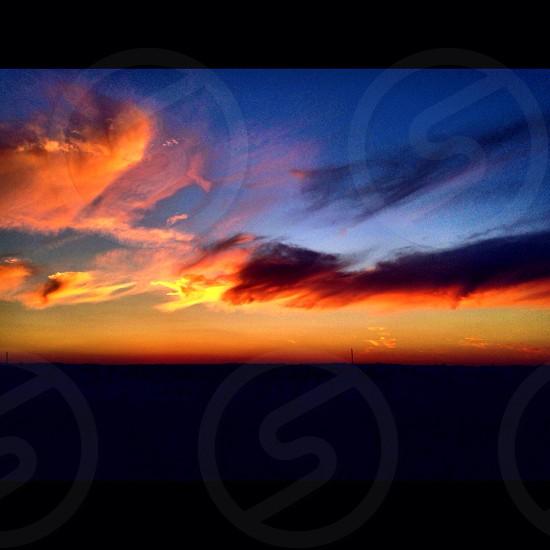 Illinois sunset  photo