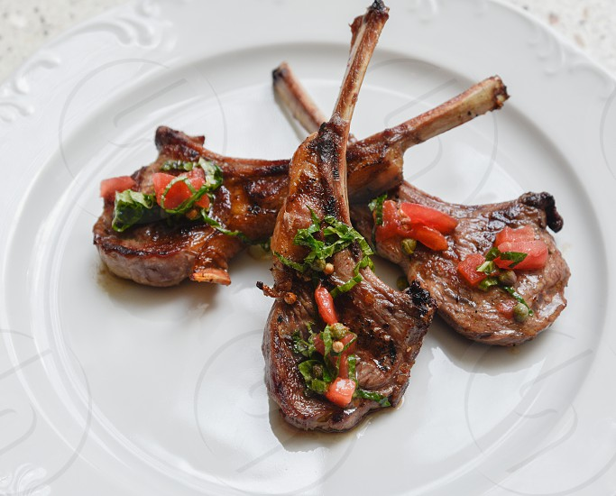 Lamb chops photo