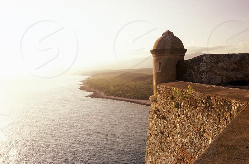 the Castillo de San Pedro del Mora in the city centre in the city of Santiago de Cuba on Cuba in the caribbean sea. photo