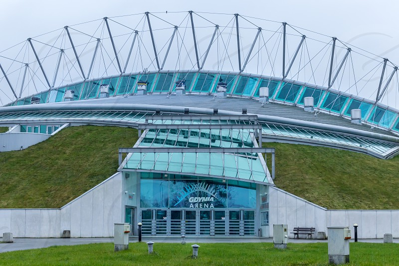 Gdynia Arena building commonly known as Hedgehog ;) photo