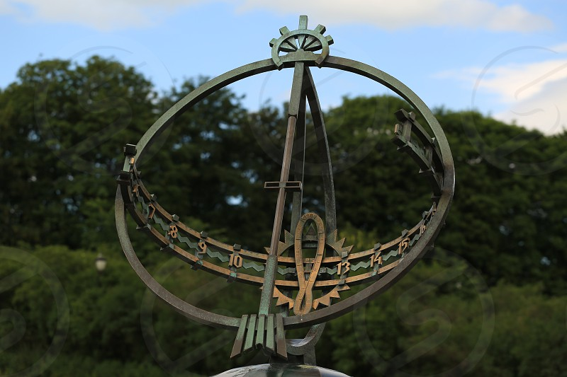 Frogner park sundial Oslo Norway photo