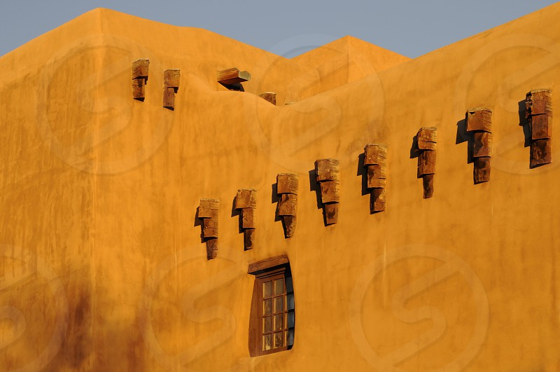 Santa Fe New Mexico architecture adobe traditional building exterior traditionally house housing construction architectural  photo